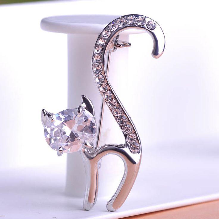 Золотые Синие Hello Kitty Cat Броши Свадьба Broach Хиджаб Pin гиппокампа Броши Бесплатные Много Брошь Букет Женщины Оптовые ювелирные изделия
