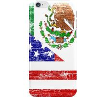 iPhone Case/Skin, Vintage Mexican American Flag.