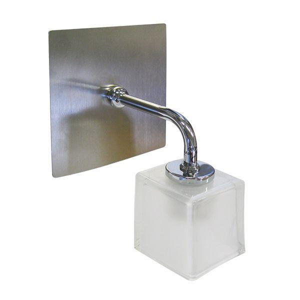 Applique salle de bain verre et métal Alicante