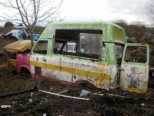 Old Ford Transit ice cream van - a photo on Flickriver