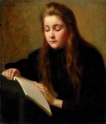 "Ozias Leduc (1864 –1955) - ""La Liseuse"" (The artist's sister reading)"