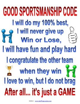 A great strategy I use at my school called the Good Sportsmanship Code.  This is just a poster with a statement/pledge that I have printed on the wall and anytime a class has trouble using good sportsmanship during a game, we immediately stop the gameplay and bring everyone over to the poster and recite the code together.More info and a video example at my blog: www.thePEspecialist.comThanks!Leaving feedback saves you money!