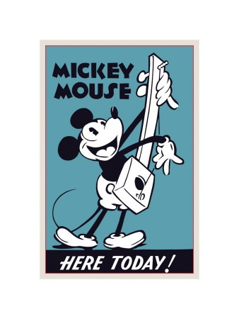 vintage mickey prints for a kid's room