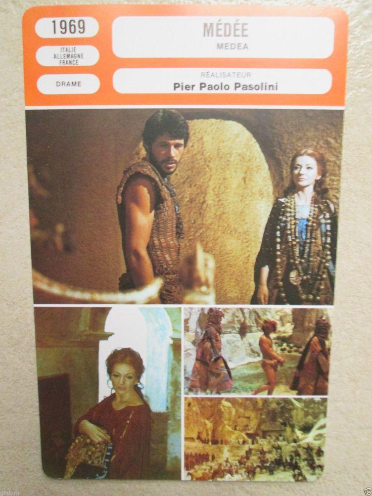 Fiche Medee 1969 Pasolini Maria Callas Medea Laurent Terzieff MR Cinema | eBay