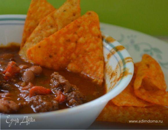 """""""Техас Чили"""" с фасолью. Ингредиенты: перец сладкий зеленый, перец кайенский, тмин"""