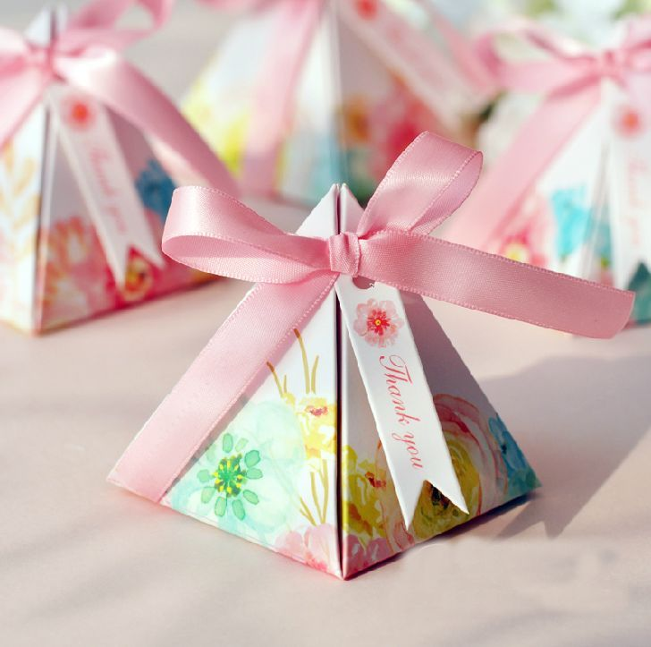 Wedding Favor Candy Box Quality Party Directly From China Bo Suppliers 100 X Hot Pink Fl Flower Printed Gift
