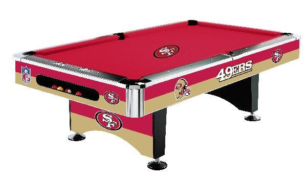 San Francisco 49ers NFL 8ft Billiards/Pool Table with Felt