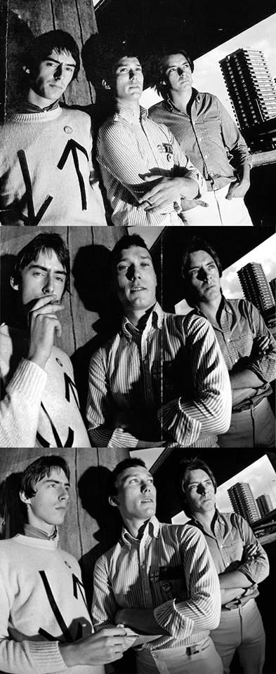 Paul Weller, Rick Buckler and Bruce Foxton-The Jam