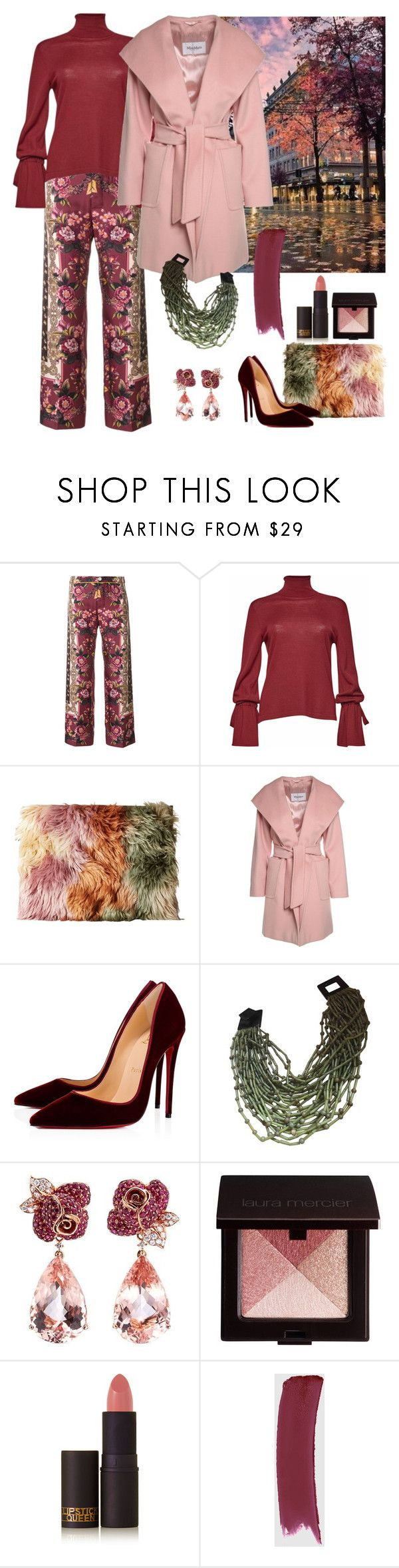 """""""AUTUMN COAT"""" by molly-072 ❤ liked on Polyvore featuring F.R.S For Restless Sleepers, MM6 Maison Margiela, MaxMara, Christian Louboutin, Monies, Anyallerie, Laura Mercier, Lipstick Queen and Gucci"""
