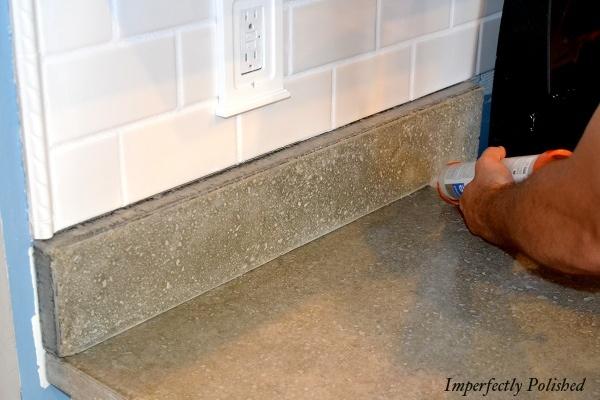 36 best kitchen splash guard images on pinterest kitchen for Polished concrete kitchen countertops