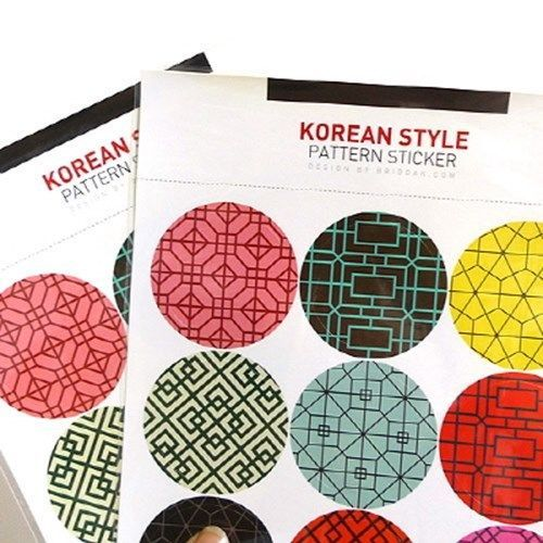 Diary Sticker Decoration Book Decor Paper Card Lovely Korean Pattern 1Sheets
