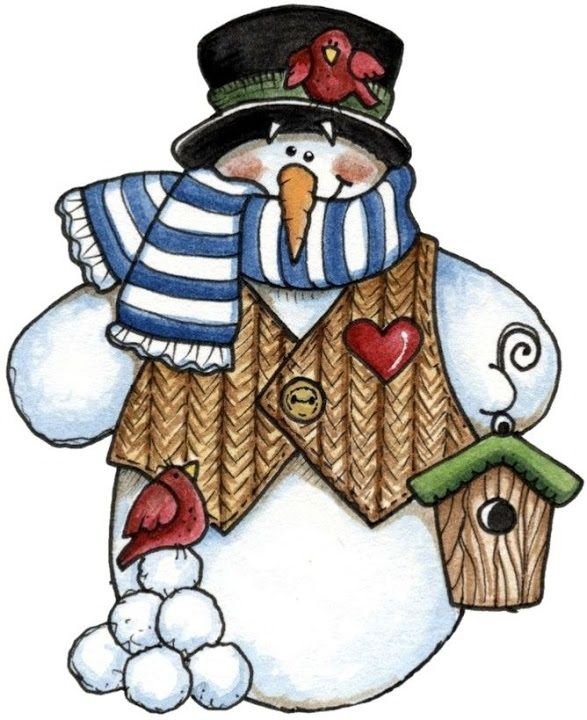 Snowman More Country Christmas Clipart Crafts Printables