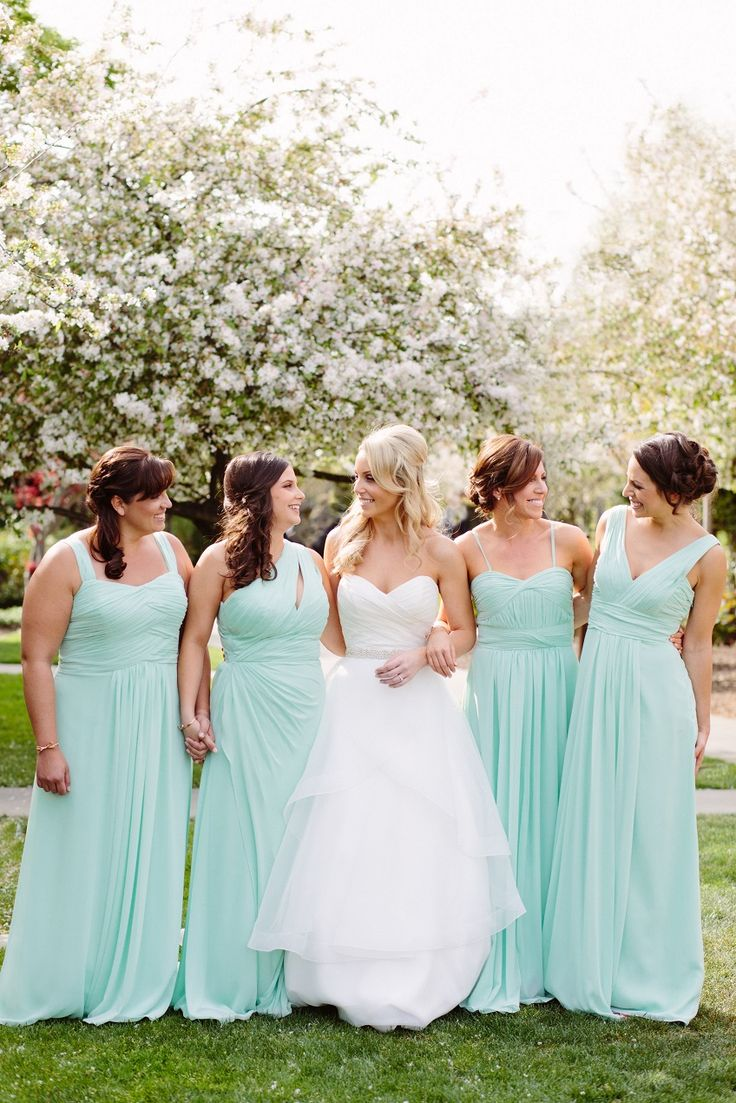 88 best bridesmaids images on pinterest bridesmaids in style classic spring wedding in sonoma bridesmaids in mint floor length wedding dresses ombrellifo Gallery