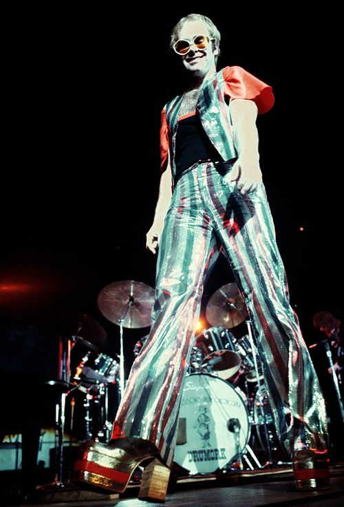 Elton John 1970s glam rock  - pinned by RokStarroad.com ~ unleash your inner RokStar - fashion, pop and mental health