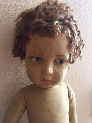 Adorable-Vintage-Curly-Hair-Lenci-Doll-23-inches-Needs-TLC