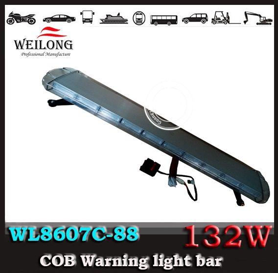 294.09$  Watch here  - Free Shipping Super Bright COB lightbar, 6W*22,132W COB warning light bar,  police light bar