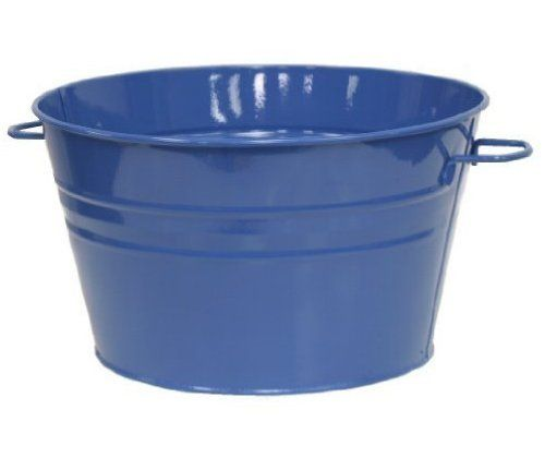 Houston International 6085E B 13.5-Inch Steel Planter/Tub, Blue by HIT Corp.. $24.99. Great as for anywhere planter, tub for flowers, herbs and also doubles as a beverage bucket, toy container and more. High temperature baked on electrostatic enamel paint. Rustproof galvanized steel. Enameled galvanized planter/tub. Blue. Watertight. Made in Istanbul Turkey. Houston International Trading has been an industry leader in garden items; designing, manufacturing and importing...