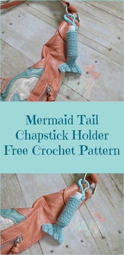 Mermaid Tail ChapStick Holder, Free Crochet Pattern