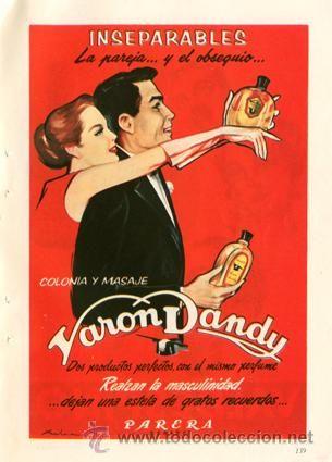 Página Publicidad Original *VARON DANDY Colonia y Masaje. PARERA* Vintage - Año 1958