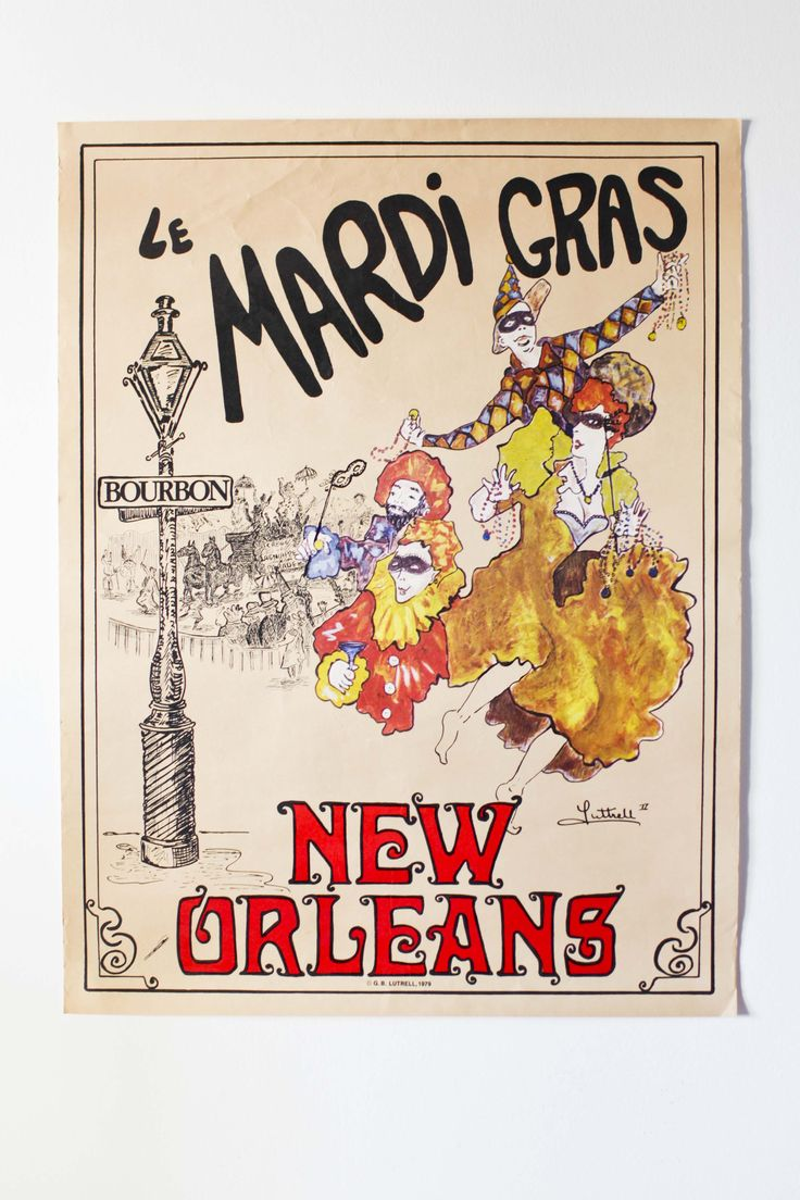 VENDO POSTER ORIGINALISSIMI! : Vendo poster New Orleans - MARDI GRAS -