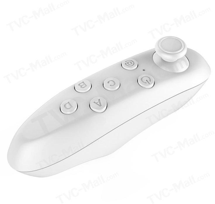 Bluetooth Remote Controller Mini Wireless Gamepad Mouse For IOS Android VR BOX - White