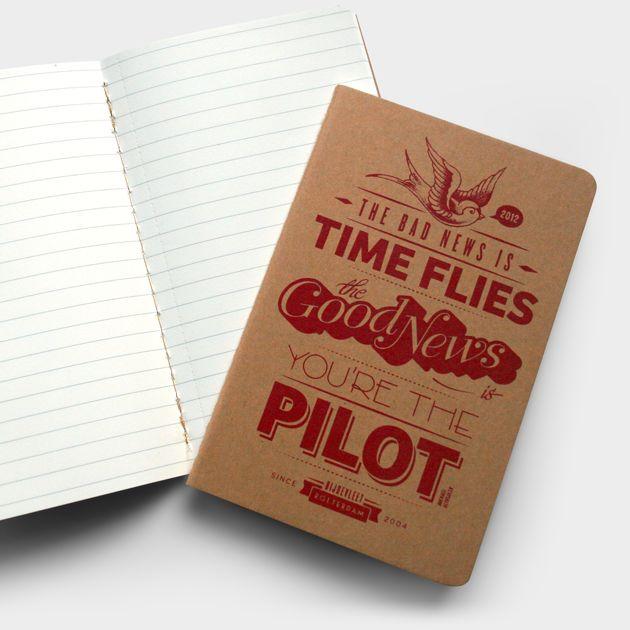 Briljante tekst van Michael Althsuler gezeefdrukt op lege Moleskine® notebooks