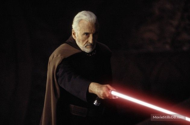 Star Wars: Episode II - Attack of the Clones - Publicity still of Christopher Lee