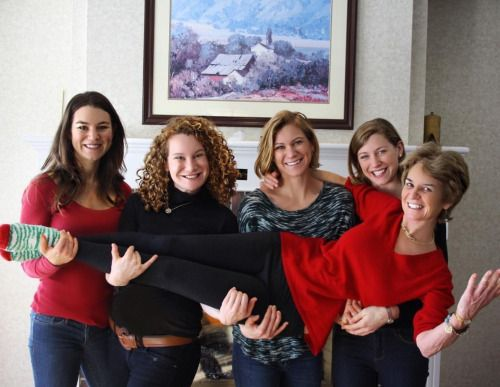 Kathleen Kennedy Townsend with her four daughters,  Meaghan, Kerry, Maeve and Kate in Stowe, Vermont, Christmas, 2016