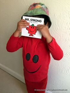 Mr Strong Home made Costume for World Book Day. Rambling Through Parenthood