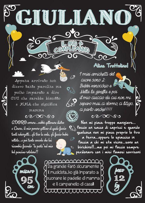 Lavagnetta Primi Compleanni/battesimi di Lavagnettiamo su Etsy