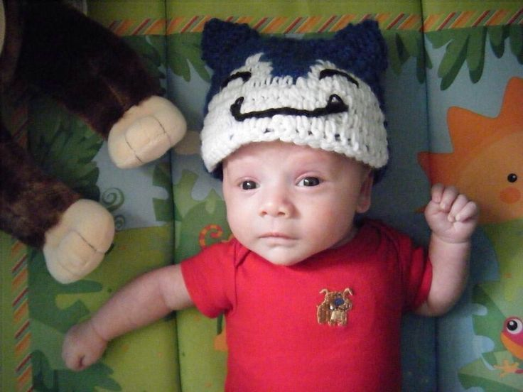 Snorlax baby beanie from Maddie and Me Crochet   www.facebook.com/maddieandmecrochet