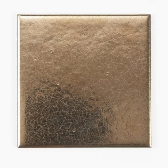 Crackle Glazed Gold 10cm X 10cm Wall Tile Wall Tiles Crackle Glaze Crackle Glaze Tiles