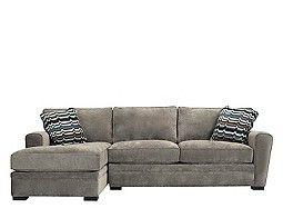 Artemis II 2-pc. Microfiber Sectional Sofa w/ Full Sleeper