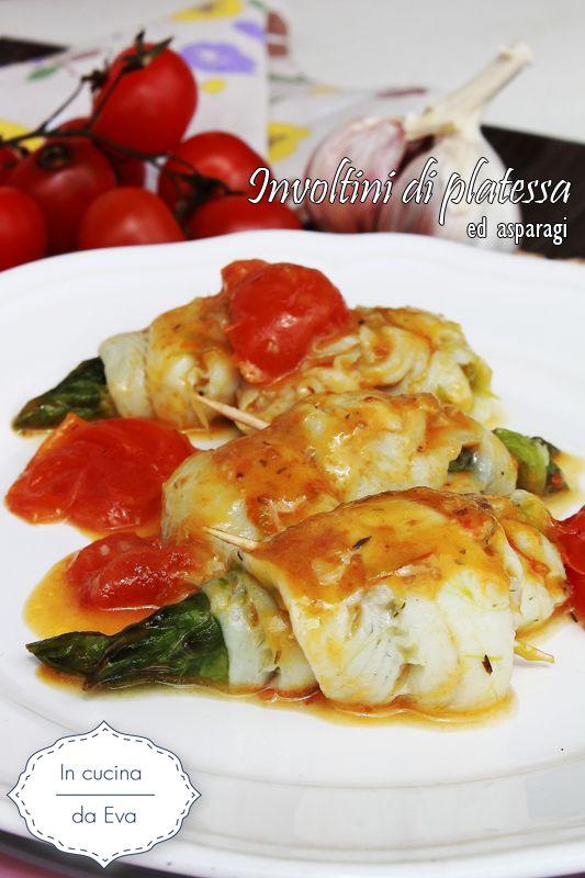Involtini di platessa ed asparagi   ricetta di pesce
