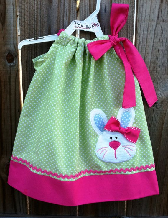 Super cute Bunny girl Easter pillowcase dress by fridascloset1, $26.00