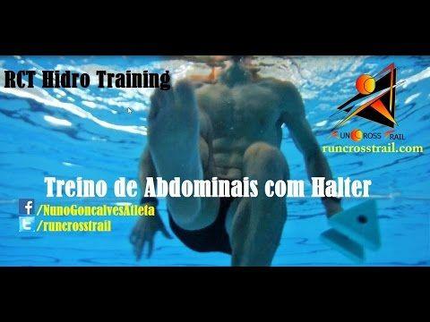 Treino Abdominais dentro água com halter - RCT Hidro Training - Hidrogin...