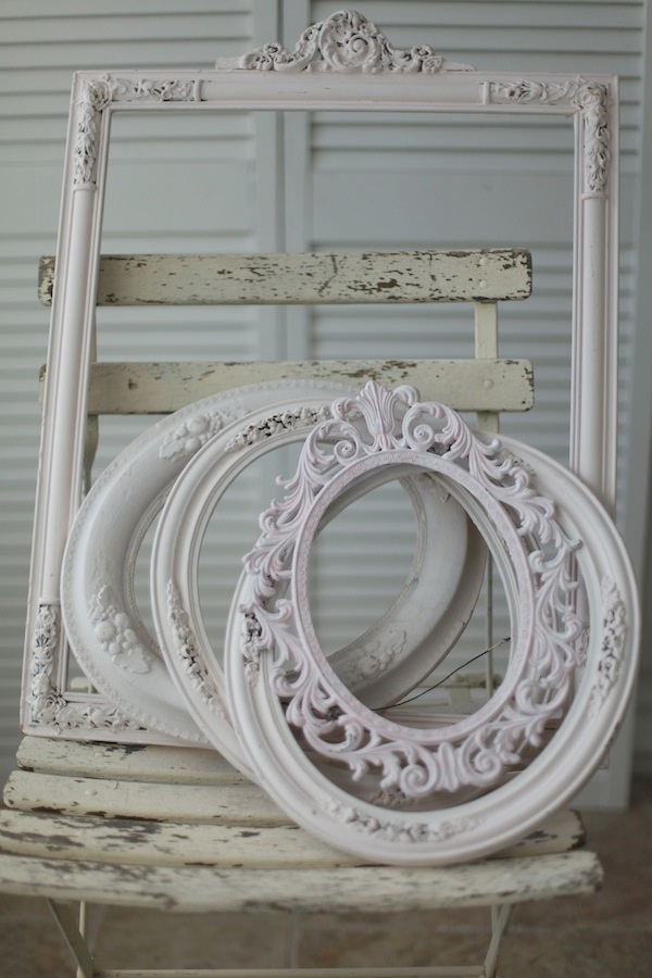 Vintage Frames. These would look nice filled with pictures, a mirror, or even hung up empty. They tie in with the vintage theme of the room.