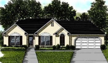 House Plan 036-00017 - Ranch Plan: 1,304 Square Feet, 3 Bedrooms, 2 Bathrooms