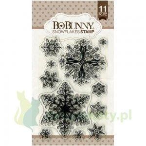 Zestaw stempli  akrylowych BoBunny Snowflakes/ śnieżynki