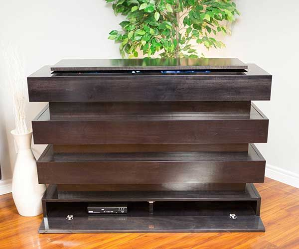 The Milan TV Lift Cabinet  Hand Crafted to Perfection from the Highest  Quality Real Wood