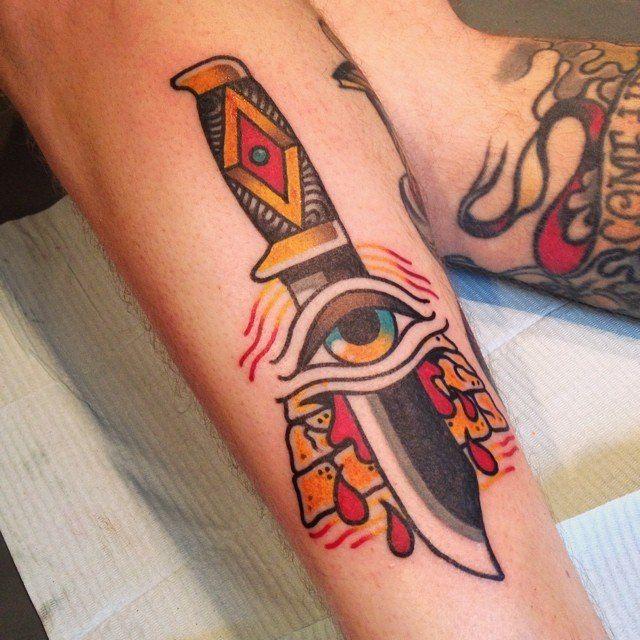 #tattoo #knide #eye #blood #leg