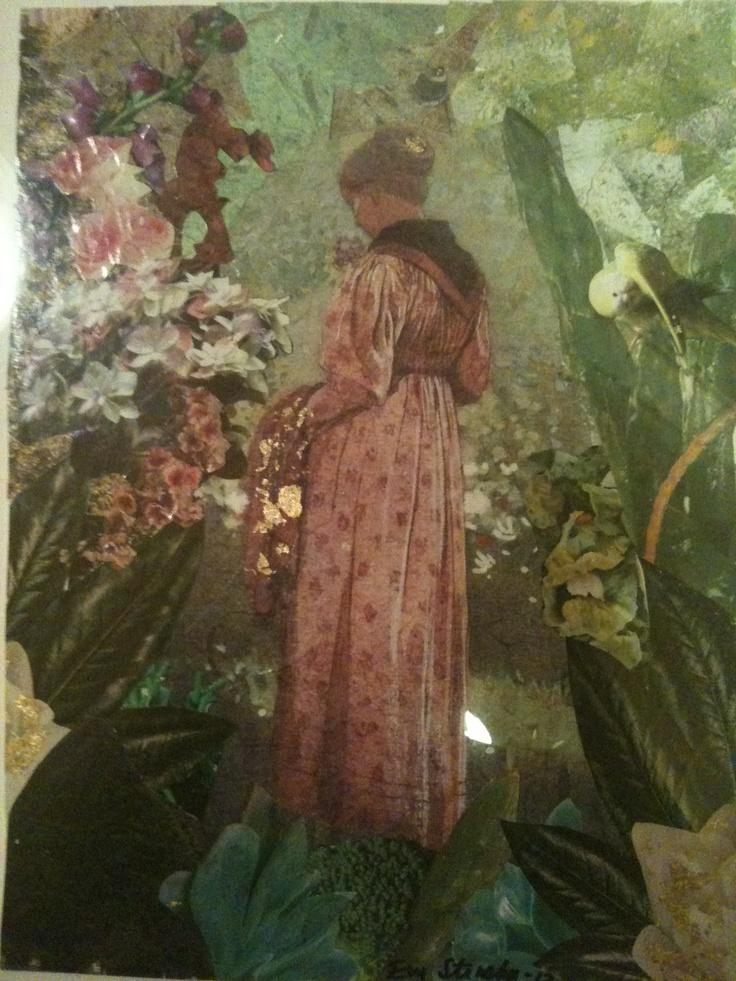 "collage ""in granny's garden"""