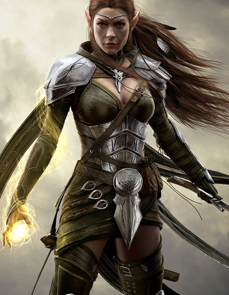 Elder Scrolls game art It's nice to see a woman whose NOT about to burst free of her outfit.