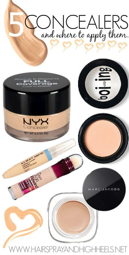 5 Of The Best Concealers & Where To Apply Them via #hairsprayandhighheels  #face #makeup #beauty - bellashoot.com