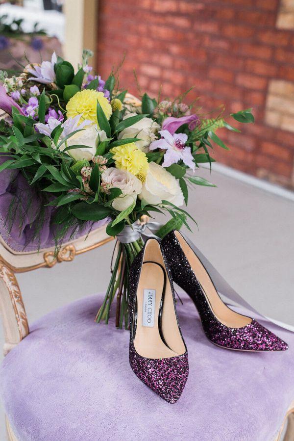 Purple bridal shoes    #wedding #weddingideas #aislesociety #vintagewedding