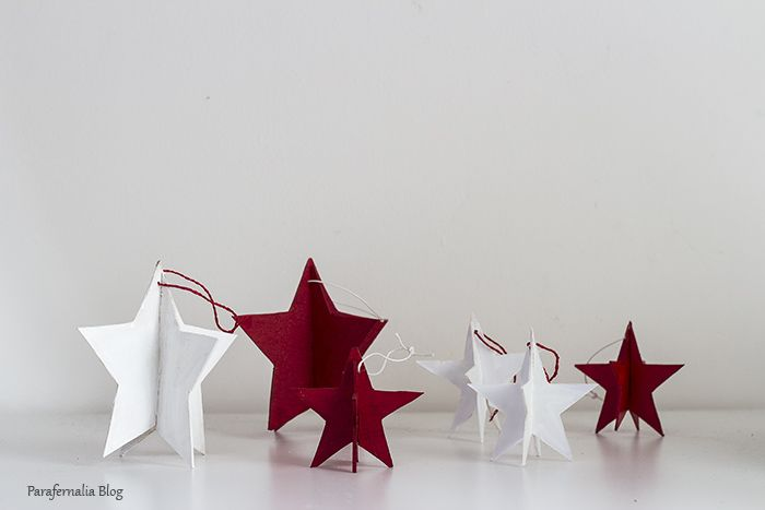 DIY Navidad: Estrellas 3D / 3D starts by ParafernaliaBlog
