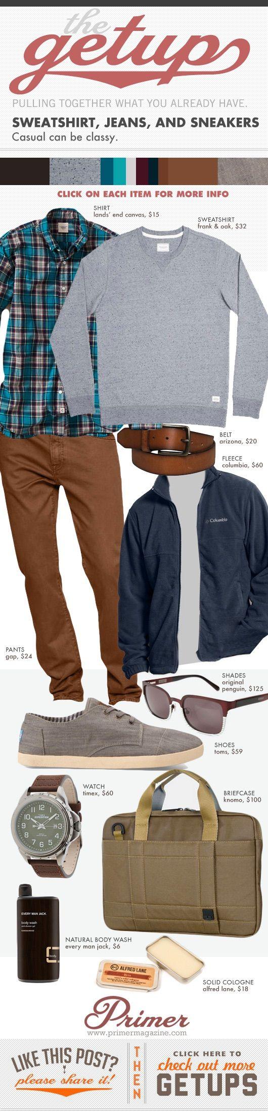 The Getup - Sweatshirt, jeans & sneakers