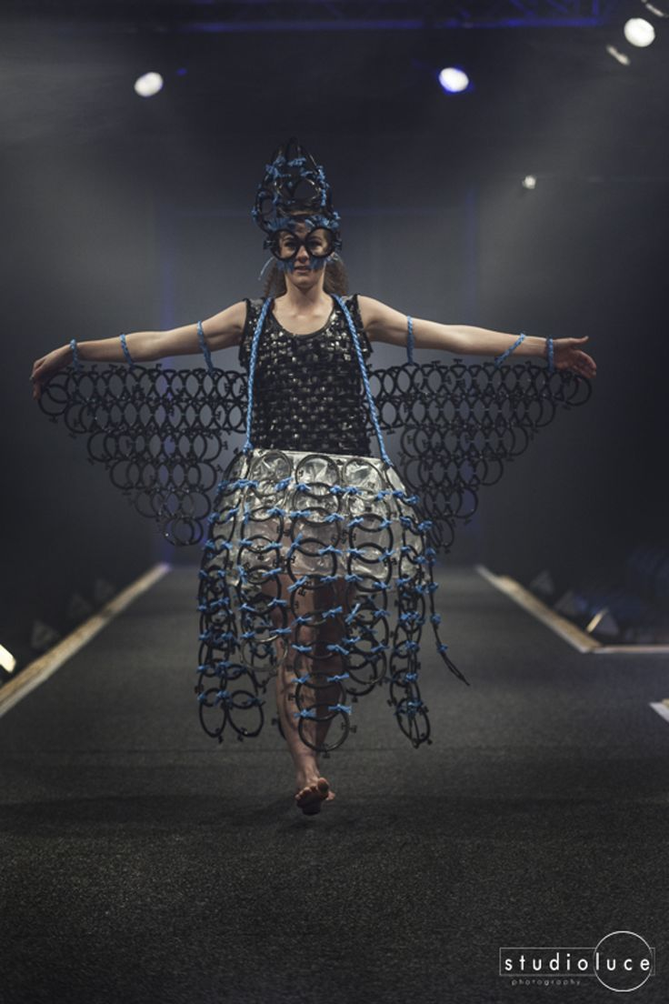Runway Fashion Photography  Photographer: Studio Luce  Location: Fieldays Wearable Arts Sabina East - Cow Shed Blow Fly - Classroom Couture - Second Place 2014 Wearable Art Awards