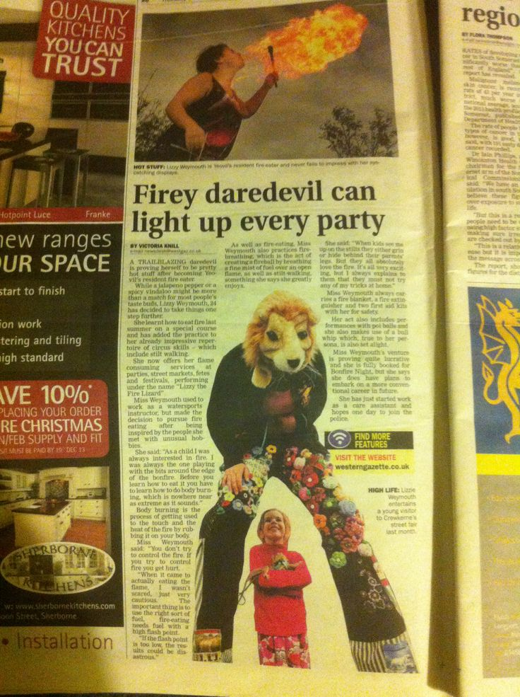 I was on pg20 in the Western Gazette!!
