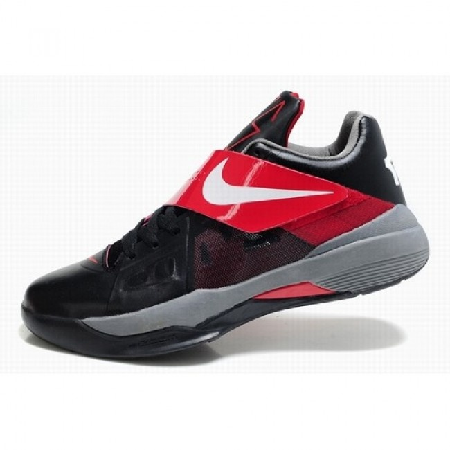Classic Nike Zoom Kevin Durant New KD IV Men Black Red Grey Basketball Shoes  $72.5 http